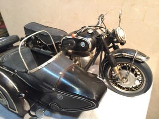 Miniatura moto BMW R60 con sidecar metal