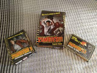 Juego de cartas Zombies.