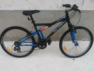 Bicicleta MTB de 24 pulgadas con doble suspensión
