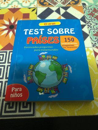 Libro de test sobre los países edición infantil