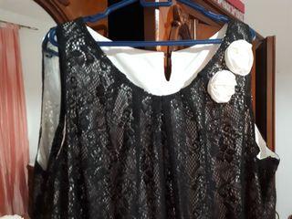 vestido corto, talla grande