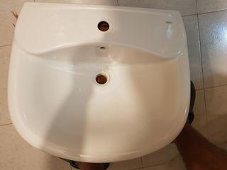 lavabo con pie + valvula automatica