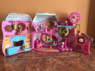 Gimnasio Littlest Pet Shop + 10 mascotas