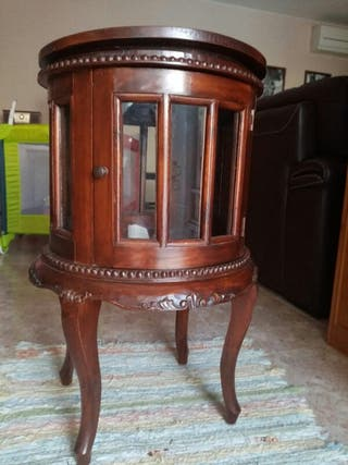 Vitrina mueble bar colonial