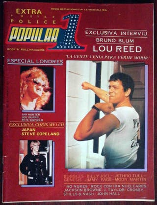 Popular 1 Nº 81 Extra Police, Lou Reed, Buggles...