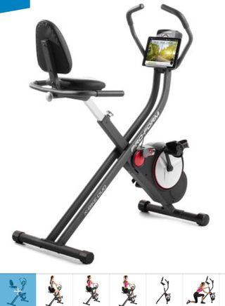 Bicicleta eléctrica con respaldo spinning