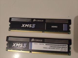 2 memoria RAM DDR3 nueva Corsair