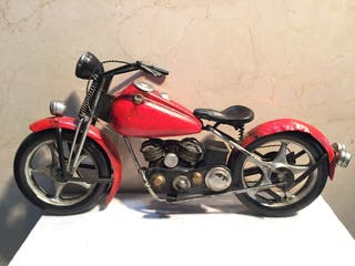 Miniatura moto Harley Davidson metal a mano