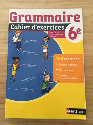 Grammaire Cahier d'exercices 6e NUEVO