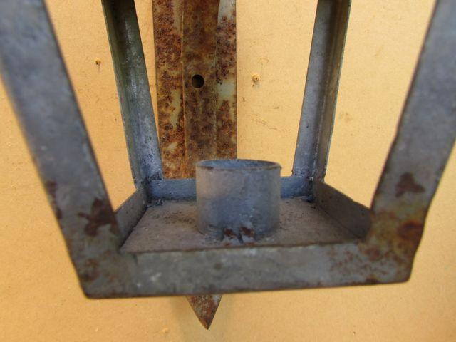 Farol aplique hierro vela antiguo fachada