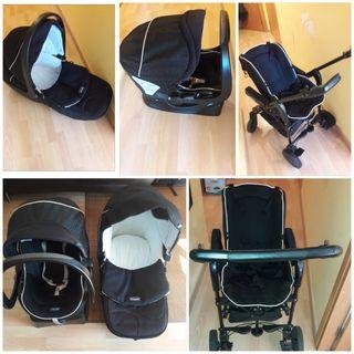 carrito de bebé 3 piezas