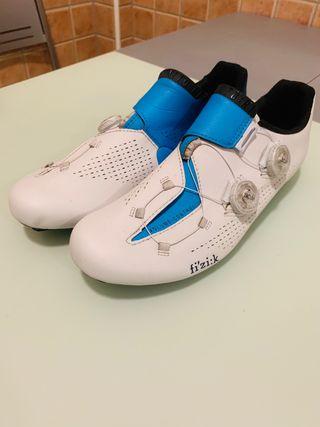 Zapatillas de ciclismo fizik r1 Movistar