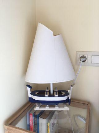 Lámpara velero+ REGALO CAÑAS DE PESCAR