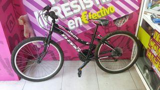 bicicleta junior B-PRO JR24 negra