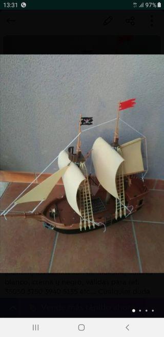 playmobil lote velas barco galeón pirata (Custom)