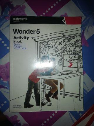 Inglés Primaria Wonder 5