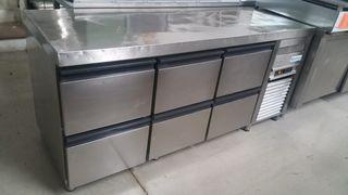 mesa fria bajo mostrador cajones infrico 1.90m