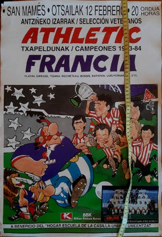 Cartel callejero Athletic Francia