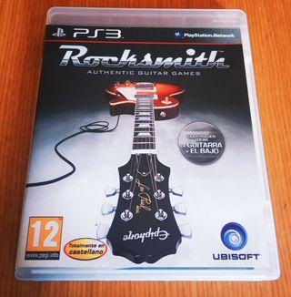 videojuego rocksmith más cable jack ps3