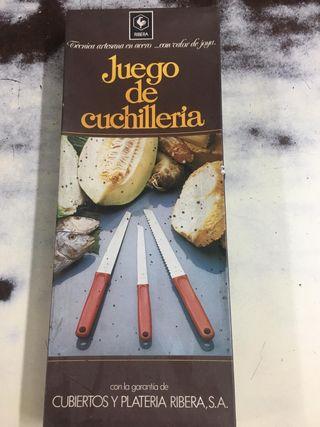 Juego cuchillos Ribera