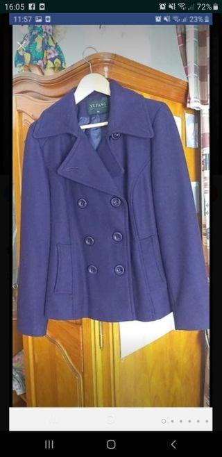 abrigo de paño corto