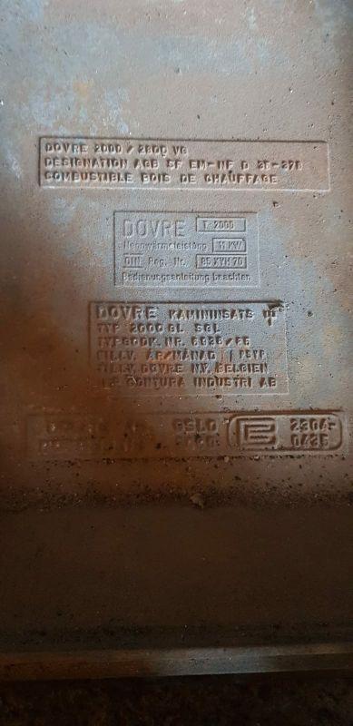 chimenea insertable marca Dovre,