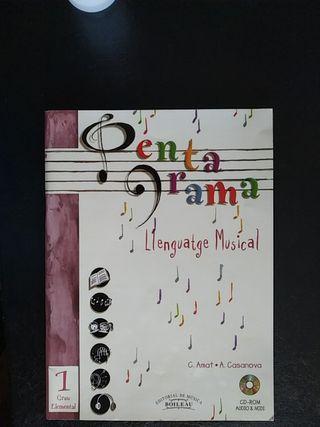 Llibre de música amb Català