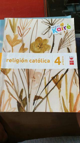 libro Religion catolica 4° primaria.Editorial SM