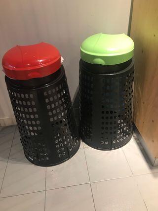 Cubo basura reciclable plegable practico