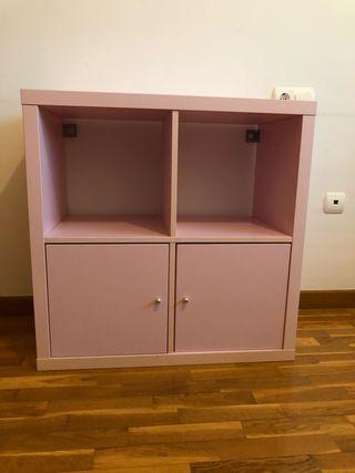 Mueble ikea rosa kallax