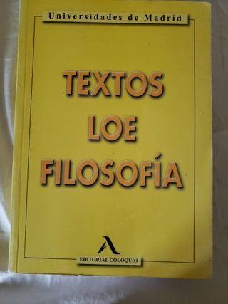 LIBRO TEXTOS LOE EVAU FILOSOFÍA ED. COLOQUIO