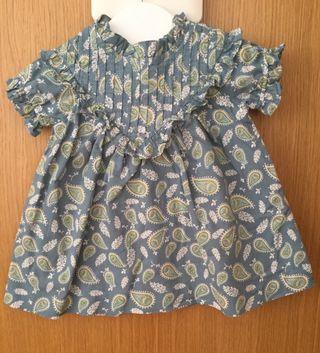 Vestido bebe niña marca Gocco 9-12 meses