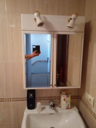 armario baño con espejo con iluminación