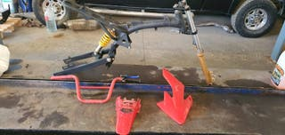 chasis amortiguadores horquilla pit bike