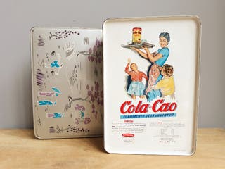 Cola-Cao caja metal vintage decoració2n china
