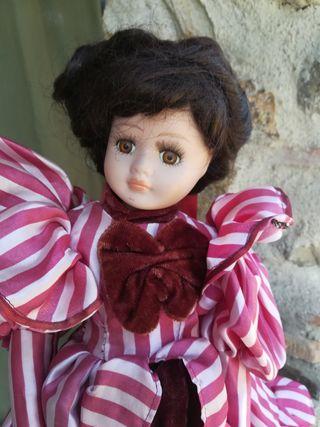 Antigua muñeca porcelana de coleccion