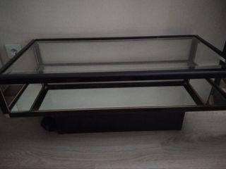 2 mesas de cristal