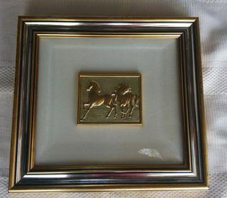 cuadro italiano caballos plata