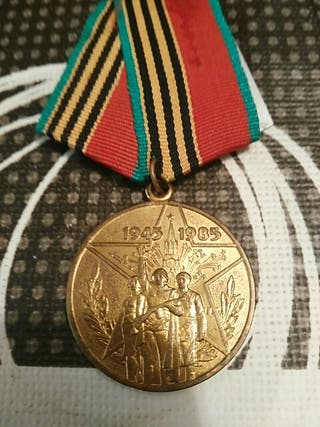 medalla rusa 40 años de la 2 guerra mundial