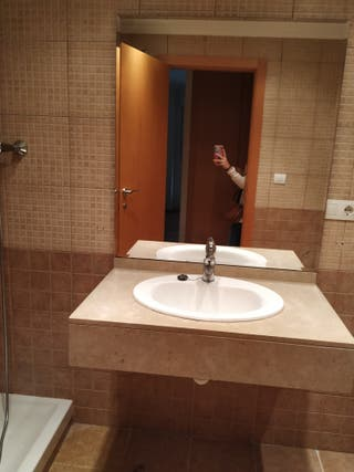 lavabo mármol + espejo