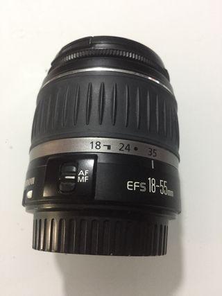 Canon 18-55 regalo flash y cámara para piezas