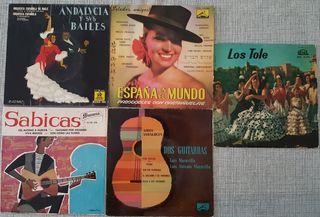 5 discos de vinilo flamencos