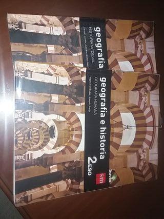 libro GEOGRAFIA E HISTORIA 2 ESO S.M