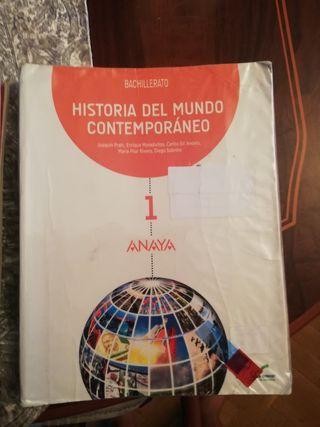 Libro de Historia del mundo contemporáneo 1°Bach