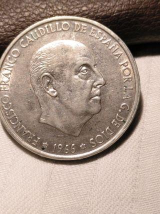 moneda de 100 ptas de 1966 *67 plata
