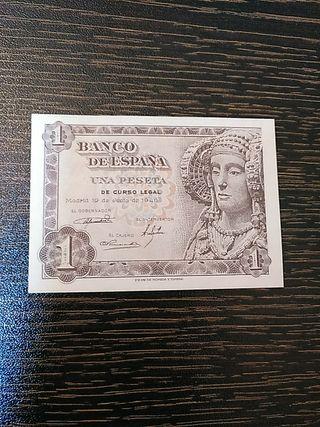 Billete de España. 1 peseta 1948.