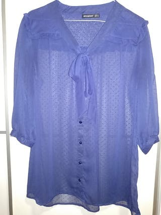 Blusa plumeti azul oscura
