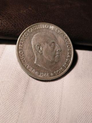 moneda de 100 ptas 1966 *70 plata