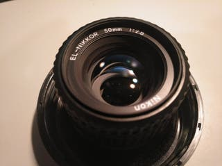Objetivo Nikon EL-Nikkor 2,8/50mm.