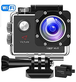 Camara acuatica deportiva HD 1080p + palo stick